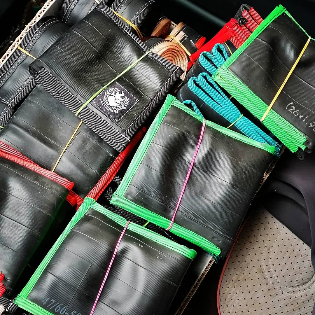 Pack of cyclist wallet in many colors