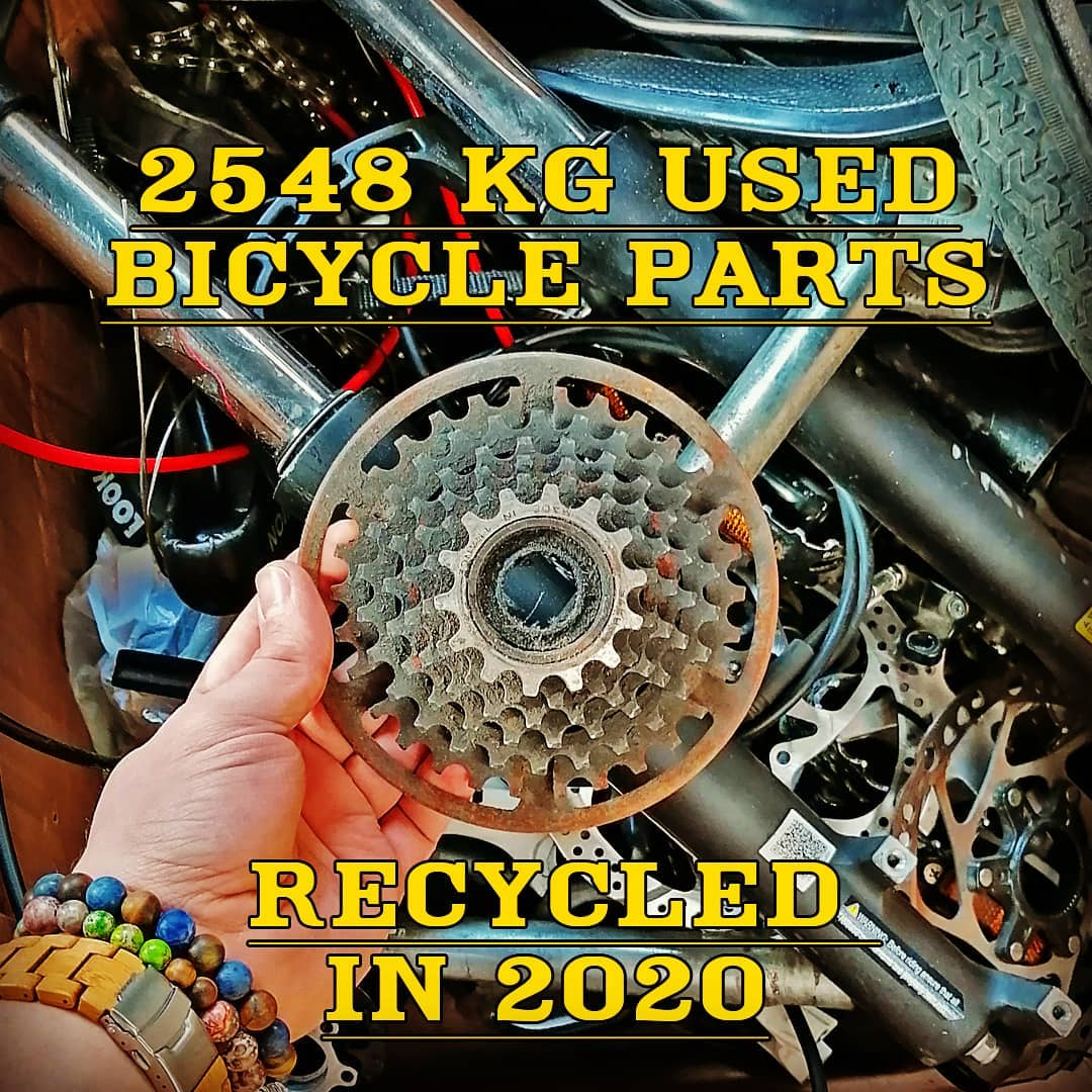 recycling bicycle metal parts, report for 2020 by Felvarrom